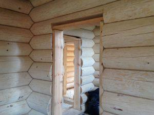 Окосячка окон и дверей в деревянном доме
