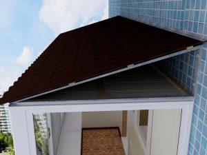 Крыша балкона на последнем этаже: установка остекления и кровельных материалов