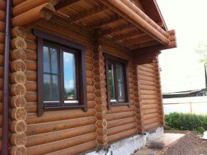 Пластиковые окна в дом из бревна - ремонт и обслуживание окон