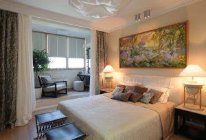 Спальня объединенная с балконом: как совместить два помещения?