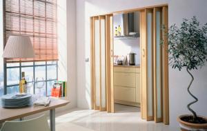 Раздвижные межкомнатные двери гармошка - характеристика, преимущества и недостатки