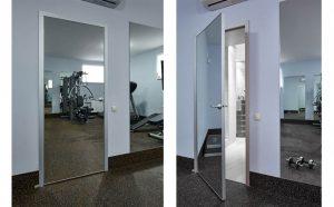Межкомнатные двери с зеркалом - варианты монтажа зеркала на разные конструкции